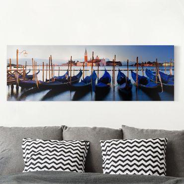 Stampa su tela - Venice Gondolas - Panoramico