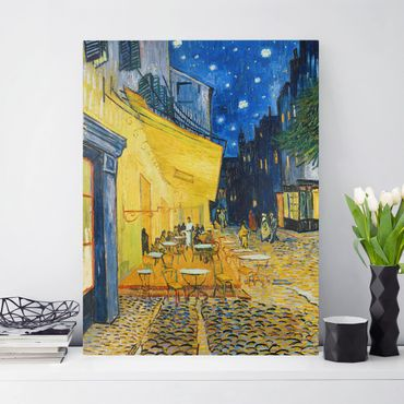 Stampa su tela - Vincent van Gogh - Terrazza del caffè la sera, Place du Forum, Arles - Verticale 3:4