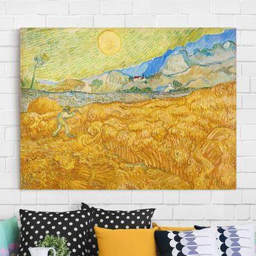 Stampa su tela - Vincent van Gogh - La Vendemmia, Il Campo di Grano - Orizzontale 4:3