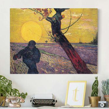 Stampa su tela - Vincent van Gogh - Il Seminatore con impostazione Sole - Orizzontale 4:3