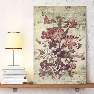 Stampa su tela - Vintage Floral Design - Verticale 2:3