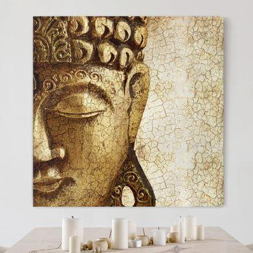 Stampa su tela - Vintage Buddha - Quadrato 1:1