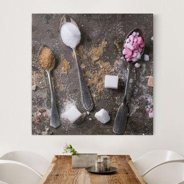 Stampa su tela - Vintage Spoon With Sugar - Quadrato 1:1