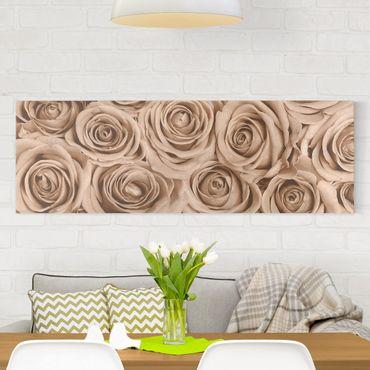 Stampa su tela - Vintage Rose - Panoramico