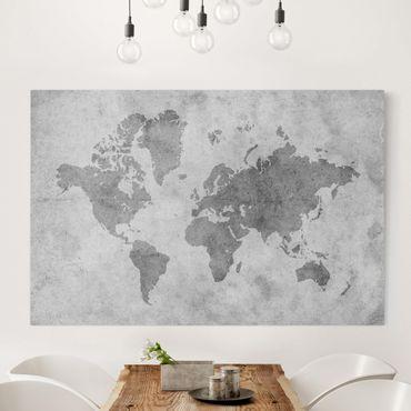 Stampa su tela - Vintage World Map II - Orizzontale 3:2
