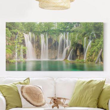 Stampa su tela - Waterfall Plitvice Lakes - Orizzontale 2:1