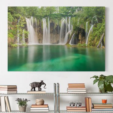 Stampa su tela - Waterfall Plitvice Lakes - Orizzontale 3:2