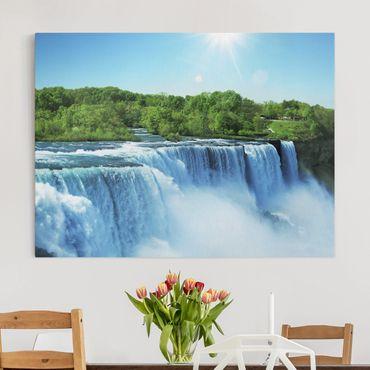 Stampa su tela - Waterfall Scenery - Orizzontale 4:3
