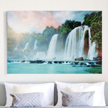 Stampa su tela - Waterfalls Panoramico - Orizzontale 3:2