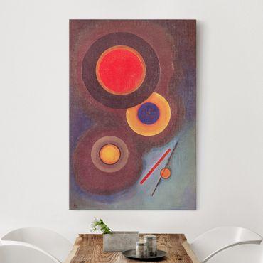 Stampa su tela Wassily Kandinsky - Composizione con Cerchi e Linee - Verticale 2:3