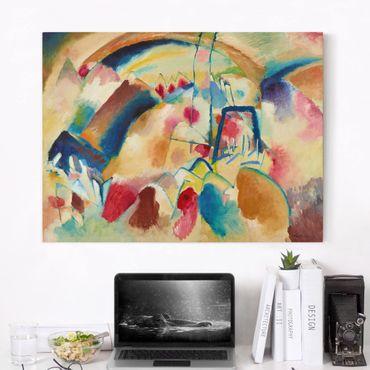Stampa su tela - Wassily Kandinsky - Paesaggio con Chiesa - Orizzontale 4:3