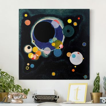Stampa su tela - Wassily Kandinsky - Several Circles - Quadrato 1:1