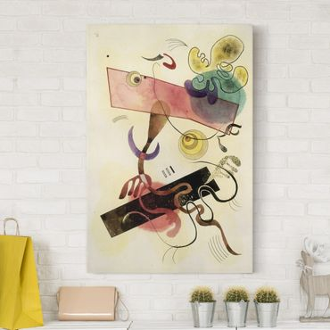 Stampa su tela Wassily Kandinsky - Taches: Verte et Rose (Macchie: Verde e Rosa) - Verticale 2:3