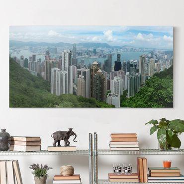 Stampa su tela - Watching Hongkong - Orizzontale 2:1
