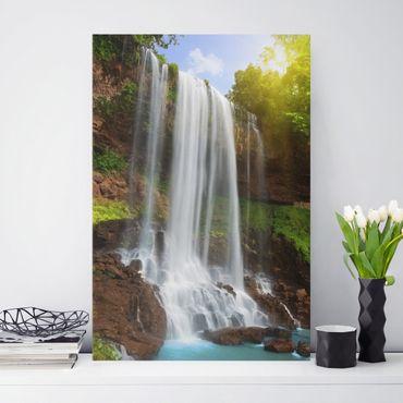 Stampa su tela Waterfalls - Verticale 2:3