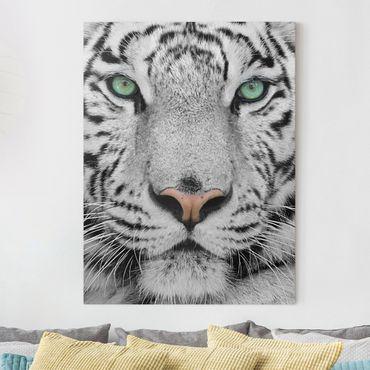 Stampa su tela - White Tiger - Verticale 3:4