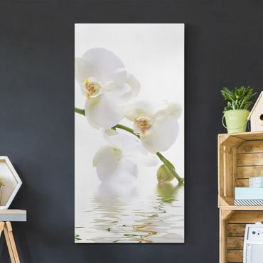 Stampa su tela - White Orchid Waters - Verticale 1:2