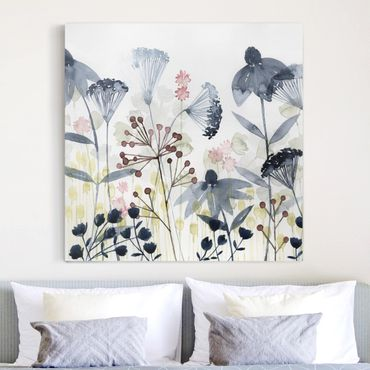 Stampa su tela - Wildflower Watercolor I - Quadrato 1:1