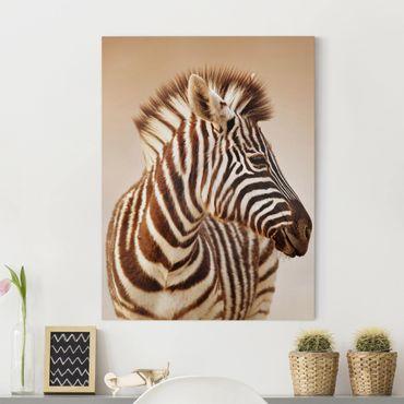 Stampa su tela - Zebra Baby Portrait - Verticale 3:4