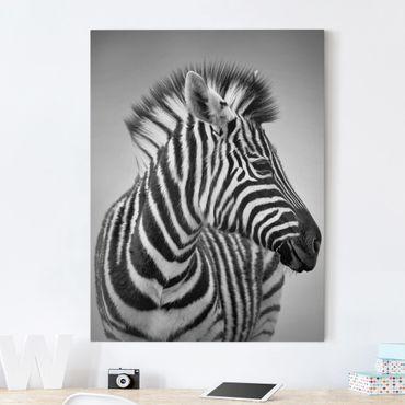 Stampa su tela - Zebra Baby Portrait II - Verticale 3:4