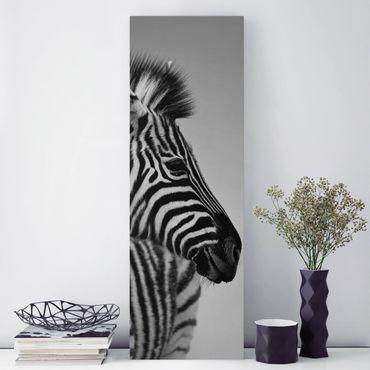 Stampa su tela - Zebra Baby Portrait II - Pannello