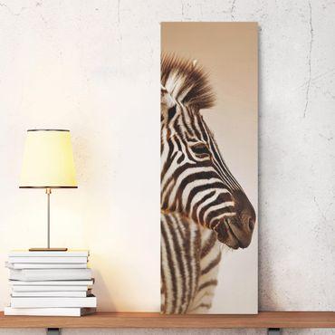Stampa su tela - Zebra Baby Portrait - Pannello