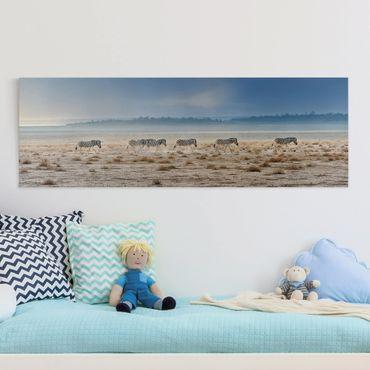 Stampa su tela - Zebra Promenade - Panoramico