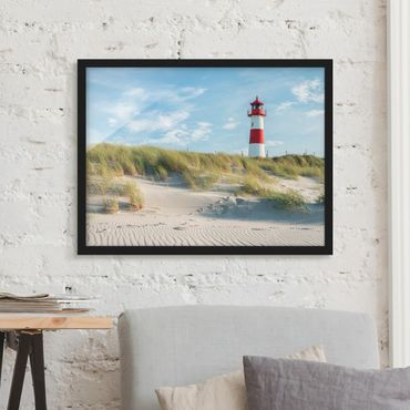 Poster con cornice - Faro sul Mare del Nord