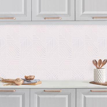 Rivestimento cucina - Fantasia di linee gradiente in rosa