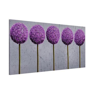 Lavagna magnetica - Allium Ball Flower - Panorama formato orizzontale