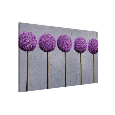 Lavagna magnetica - Allium Ball Flower - Formato orizzontale 2:3