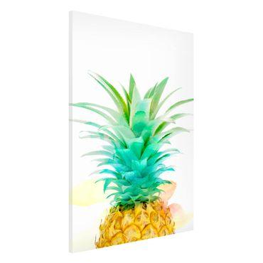 Lavagna magnetica - Pineapple Watercolor - Formato verticale 2:3