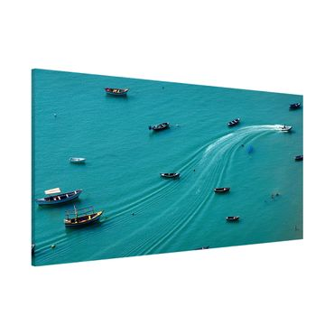 Lavagna magnetica - Pesca barche ancorate - Panorama formato orizzontale