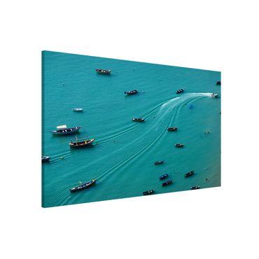 Lavagna magnetica - Pesca barche ancorate - Formato orizzontale 3:2