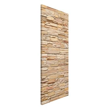 Lavagna magnetica - Asian Stonewall Large Bright Stone Wall From Homely Stones - Panorama formato verticale
