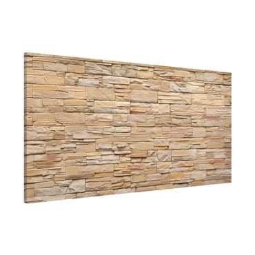 Lavagna magnetica - Asian Stonewall Large Bright Stone Wall From Homely Stones - Panorama formato orizzontale