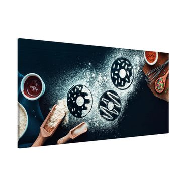 Lavagna magnetica - Baking Recipe Donuts - Panorama formato orizzontale
