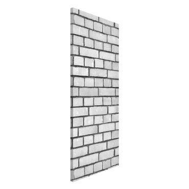 Lavagna magnetica - Brick Wallpaper White London - Panorama formato verticale