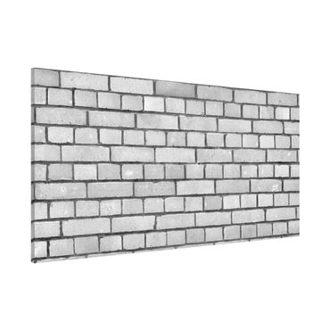 Lavagna magnetica - Brick Wallpaper White London - Panorama formato orizzontale