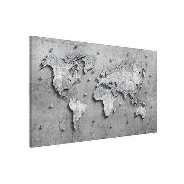 Lavagna magnetica - Concrete World Map - Formato orizzontale 3:2