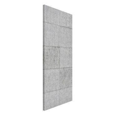 Lavagna magnetica - Concrete Tile Look Gray - Panorama formato verticale