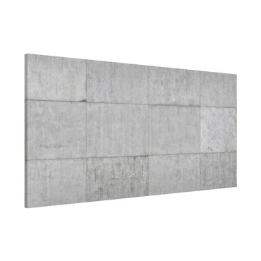 Lavagna magnetica - Concrete Tile Look Gray - Panorama formato orizzontale