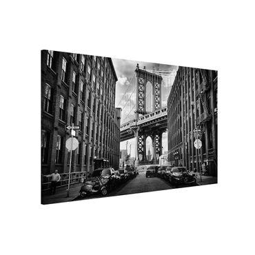 Lavagna magnetica - Manhattan Bridge in America - Formato orizzontale 3:2