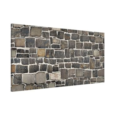 Lavagna magnetica - Crushed Stone Wallpaper Stone Wall - Panorama formato orizzontale