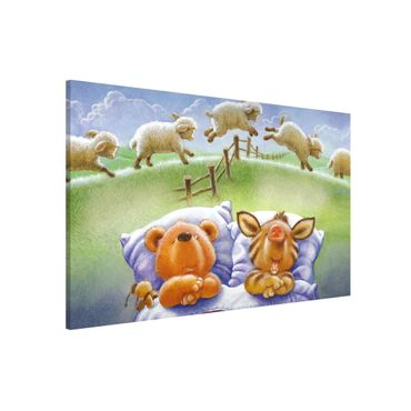Lavagna magnetica - Orsetto Buddy - Counting Sheep - Formato orizzontale 3:2