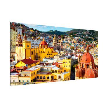 Lavagna magnetica - Colourful Houses Guanajuato - Panorama formato orizzontale