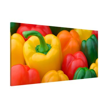 Lavagna magnetica - Colorful Peppers - Panorama formato orizzontale