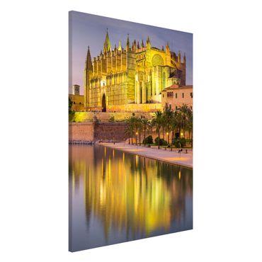 Lavagna magnetica - Catedral De Mallorca Water Reflection - Formato orizzontale 3:4
