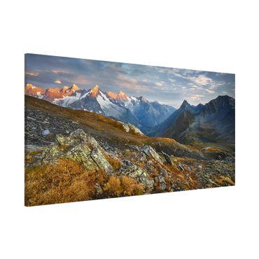 Lavagna magnetica - Col De Fenêtre Switzerland - Panorama formato orizzontale