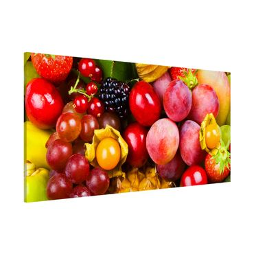 Lavagna magnetica - Colourful Exotic Fruits - Panorama formato orizzontale
